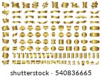 label ribbon banner gold vector ... | Shutterstock .eps vector #540836665