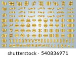 banner ribbon label gold vector ... | Shutterstock .eps vector #540836971