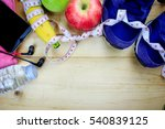 top view  fitness and health... | Shutterstock . vector #540839125