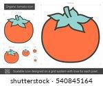 organic tomato vector line icon ... | Shutterstock .eps vector #540845164
