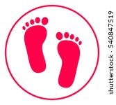 footprint icon | Shutterstock .eps vector #540847519