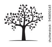 vector illustration of tree. | Shutterstock .eps vector #540850165