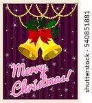 christmas card in a classic... | Shutterstock .eps vector #540851881