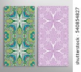 vertical seamless patterns set  ... | Shutterstock .eps vector #540854827
