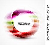 vector abstract blurred swirl...   Shutterstock .eps vector #540859105
