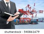 businessman writing notebook... | Shutterstock . vector #540861679