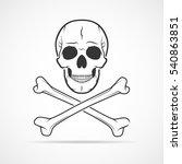 human skull and crossbones ... | Shutterstock .eps vector #540863851