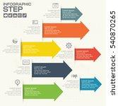 vector arrows infographic.... | Shutterstock .eps vector #540870265
