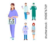 doctor  nurse character vector.