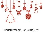 christmas hanging ornaments... | Shutterstock .eps vector #540885679