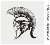 helmet of warriior logo vector. | Shutterstock .eps vector #540897871