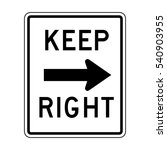 keep right sign illustration of ... | Shutterstock .eps vector #540903955