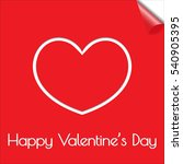 card happy valentine's day with ... | Shutterstock .eps vector #540905395