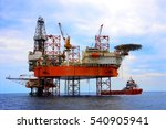offshore oil rig drilling... | Shutterstock . vector #540905941
