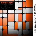 abstract orange and white text...   Shutterstock .eps vector #54090733