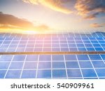 Solar Panels  Sunset