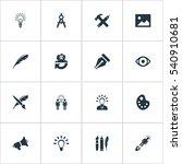 set of 16 simple creative... | Shutterstock .eps vector #540910681