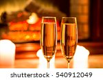 beautiful two glasses of... | Shutterstock . vector #540912049