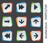 set of 9 simple pointer icons.... | Shutterstock .eps vector #540912769