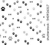 paw print seamless. traces of...   Shutterstock . vector #540926317