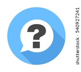 question sign icon. flat design ... | Shutterstock .eps vector #540927241