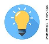 lightbulb. flat design vector... | Shutterstock .eps vector #540927301