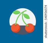 cherries icon flat disign