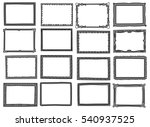 set of frame doodle isolated on ... | Shutterstock .eps vector #540937525