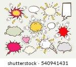 a set of comic bubbles speech | Shutterstock .eps vector #540941431