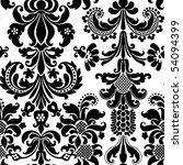 damask wallpaper   Shutterstock .eps vector #54094399