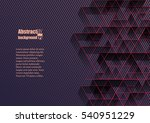 abstract background with... | Shutterstock .eps vector #540951229