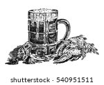 beer and boiled crawfish   Shutterstock .eps vector #540951511