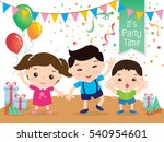 children cartoon vector | Shutterstock .eps vector #540954601