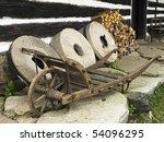 Wooden Wheelbarrow With Three...