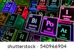 3d render abstract chemical... | Shutterstock . vector #540966904