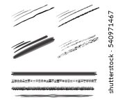 set pencil brushes. pencil... | Shutterstock .eps vector #540971467