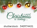 christmas background with... | Shutterstock . vector #540974431