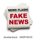 stake of newspapers that say... | Shutterstock . vector #540976915