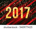 vector 2017 new year card on...   Shutterstock .eps vector #540977425