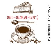 drink and sweets. a cup of... | Shutterstock .eps vector #540979339