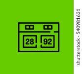 scoreboard icon flat disign