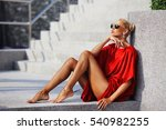 fashion portrait of young... | Shutterstock . vector #540982255