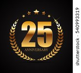 template logo 25 years... | Shutterstock .eps vector #540993319