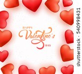 beautiful red hearts decorated... | Shutterstock .eps vector #540998431