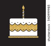 birthday cake flat web icon... | Shutterstock .eps vector #540999985