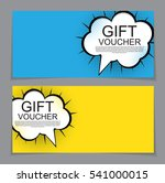 gift voucher template with... | Shutterstock .eps vector #541000015