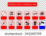 prohibited sign at public... | Shutterstock .eps vector #541005709