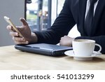 business man using internet on... | Shutterstock . vector #541013299