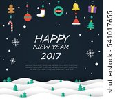 happy new year 2017 elements...   Shutterstock .eps vector #541017655