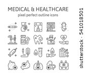 medical   outline icons  ... | Shutterstock .eps vector #541018501